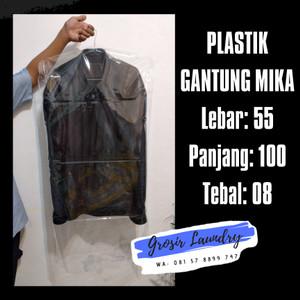 Harga plastik cover mika tebal uk 55x100 gantungan baju jas kebaya | HARGALOKA.COM