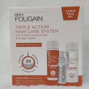 Harga foligain men triple action hair care system with trioxidil 2   HARGALOKA.COM