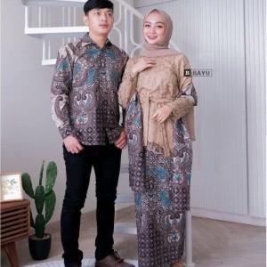 Harga batik couple setelan wanita kebaya brokat baju couple pasangan   | HARGALOKA.COM