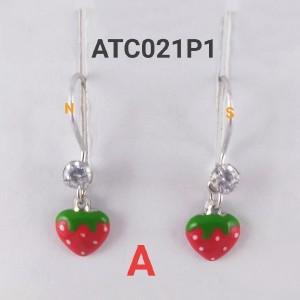 Harga anting anak perak silver strawberry   model | HARGALOKA.COM