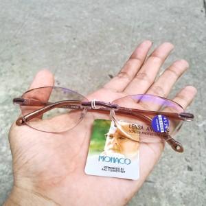 Harga kacamata baca plus anti radiasi frame bor pria wanita monaco | HARGALOKA.COM