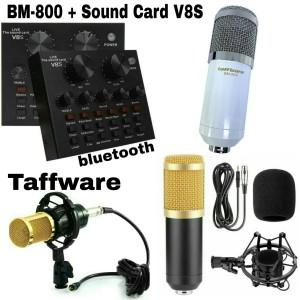 Harga paket mic bm 800 sound card v 8s   | HARGALOKA.COM
