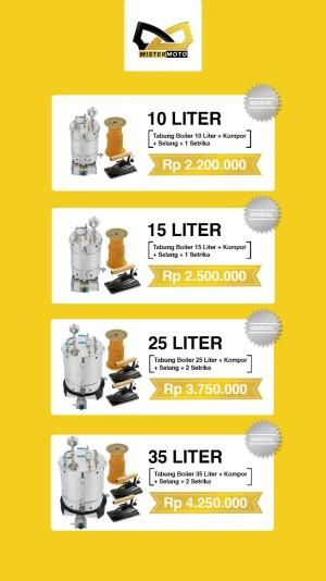 Harga setrika uap boiler laundry dan konveksi mistermoto 15ltr 2 | HARGALOKA.COM
