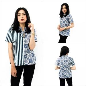 Harga s m l xl xxl 3l 4l 5l blouse batik wanita atasan batik jumbo big size   varian size | HARGALOKA.COM