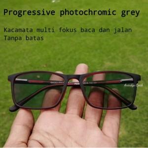 Harga promo kaca mata progresif photocromic pria wanita minus baca plus   hitam   HARGALOKA.COM