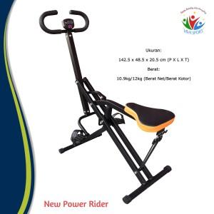Harga sepeda statis new power rider murah alat fitnes olahraga gym | HARGALOKA.COM