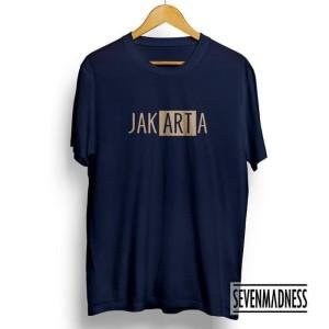 Harga t shirt baju kaos distro jakarta ii cotton combed 30s murah   | HARGALOKA.COM