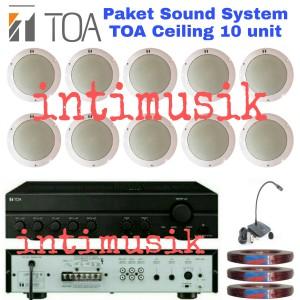 Harga paket speaker ceiling toa sound system restoran kafe 10   HARGALOKA.COM