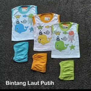 Harga setelan baju bayi kutung kaos oblong 6   12 bulan merk d 39 noofra     HARGALOKA.COM