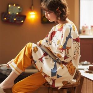 Harga baju tidur piyama jumbo set pp lengan panjang celana panjang import   ikanwarnawarni | HARGALOKA.COM