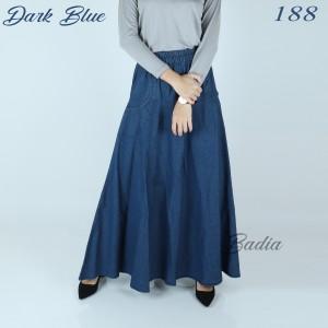 Harga rok payung jeans denim levis jumbo rok kantor wanita syari hijabers   biru muda | HARGALOKA.COM