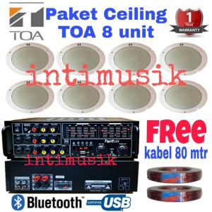 Harga paket sound system ceiling toa 8 | HARGALOKA.COM