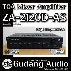 Harga amplifier toa za 2120d za 2120 khusus untuk speaker impedanti | HARGALOKA.COM