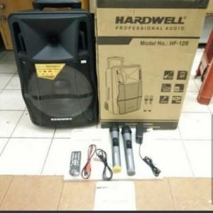 Harga speaker bluetooth portable hardwell hf 12b dua mic | HARGALOKA.COM