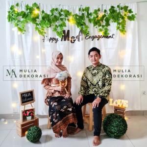 Harga dekorasi backdrop lamaran nikahan aqiqah background bekdrop paket | HARGALOKA.COM