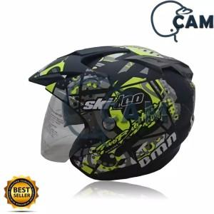 Harga helm motor sni double visor dmn ski doo black doff | HARGALOKA.COM