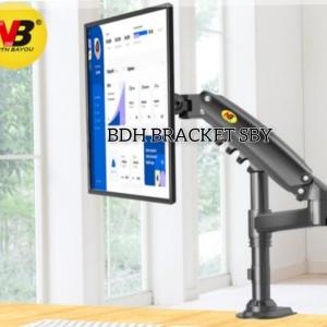 Harga bracket monitor breket jepit meja braket tv nb h80 15 34  27 34   HARGALOKA.COM