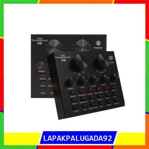 Harga sound card v8 mixer soundcard v8 mixer audio usb | HARGALOKA.COM