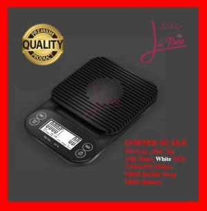 Harga timbangan kopi digital 3kg 0 1gr timer drip coffee scale v60 murah   0 1gr | HARGALOKA.COM