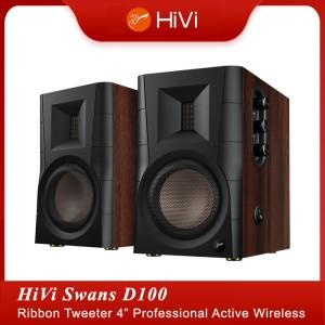 Harga swans hivi d100 2 0 professional ribbon tweeter wireless speakers   rca | HARGALOKA.COM