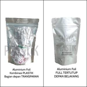 Harga standing pouch kombinasi aluminium foil 14x22 plastik snack kopi   full | HARGALOKA.COM