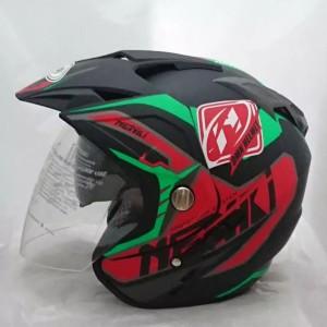 Harga helm motor sni double visor nenki black doff | HARGALOKA.COM