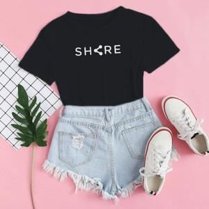 Harga baju kaos distro share blus wanita share t shirt casual share   xs | HARGALOKA.COM