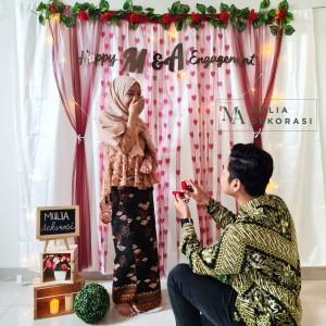 Harga dekorasi backdrop lamaran nikahan aqiqah background bekdrop paket k   | HARGALOKA.COM