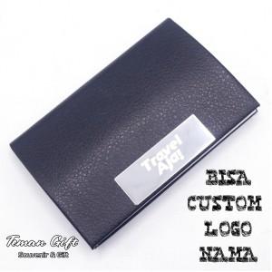 Harga name card holder nc 06k tempat kartu nama kulit stainless bisa custom   hitam tanpa | HARGALOKA.COM