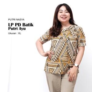 Harga atasan batik big size blouse jumbo baju kerja big size wanita blus big   | HARGALOKA.COM