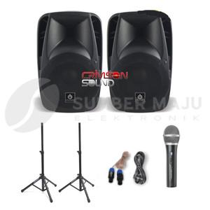 Harga paket komplit speaker aktif crimson type show 15   15inch   HARGALOKA.COM