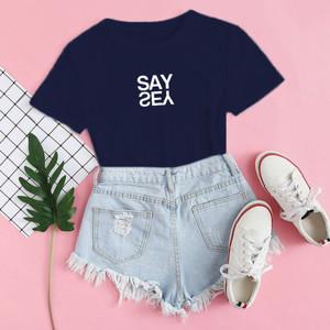 Harga baju kaos distro say yes blus wanita say yes tshirt casual say yes   xs | HARGALOKA.COM
