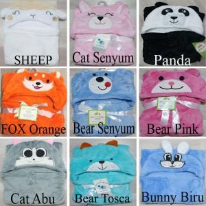 Harga selimut bayi topi boneka selimut bayi karakter fleece   | HARGALOKA.COM