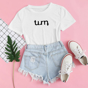 Harga baju kaos distro turn blus wanita turn t shirt casual turn   xs | HARGALOKA.COM