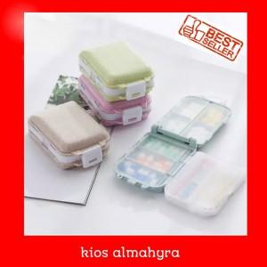 Harga kotak obat harian mini 8 sekat model koper tempat obat harian     HARGALOKA.COM