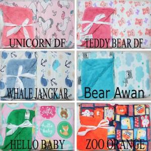 Harga selimut bayi double fleece selimut anak double fleece tanpa topi   fox | HARGALOKA.COM