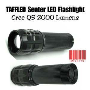Harga taffled senter led flashlight cree q5 2000 lumens lampu sepeda | HARGALOKA.COM