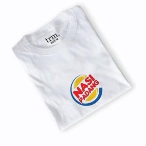 Harga kaos baju combed distro burger king nasi padang polos custom   HARGALOKA.COM