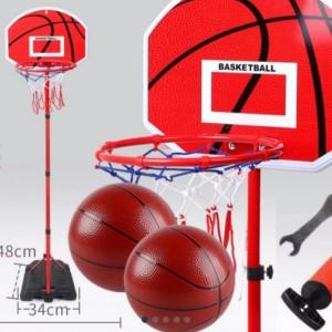 Harga ring basket papan mainan anak tiang bola olahraga 1 5m besi | HARGALOKA.COM