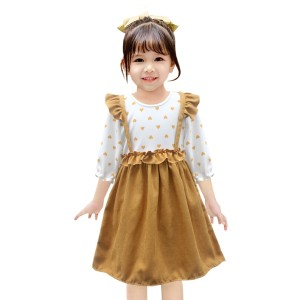 Harga two mix baju anak perempuan fashion usia 0 3 tahun bahan kaos 4063   cokelat | HARGALOKA.COM