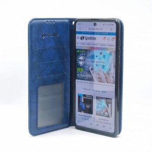 Harga samsung galaxy a71 leather case flip cover casing dompet hp kulit   | HARGALOKA.COM