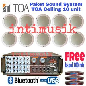 Harga paket speaker ceiling toa sound system indoor kafe restoran 10   HARGALOKA.COM