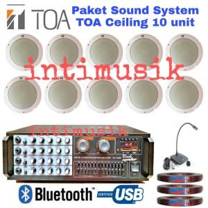 Harga paket sound system ceiling toa 10 unit mic   HARGALOKA.COM