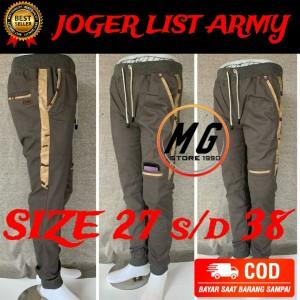 Harga celana panjang joger fashion model army terbaru laki laki pria wanita   hitam   HARGALOKA.COM