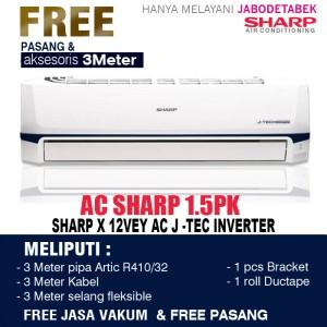 Harga ac sharp inverter 1 2 pk x 06vey   1 | HARGALOKA.COM