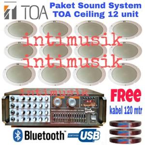Harga paket sound system ceiling toa 12 | HARGALOKA.COM