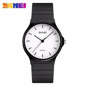 Harga jam tangan wanita skmei analog casual strap original 1419   black white | HARGALOKA.COM