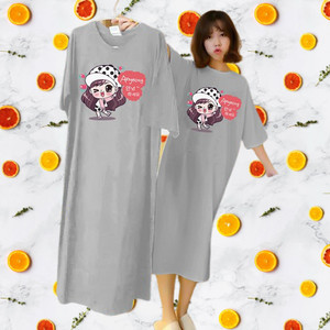 Harga baju tidur wanita maxi dress kaos wanita bahan kaos     HARGALOKA.COM