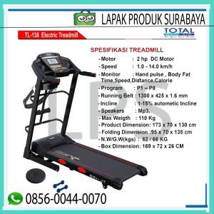 Harga alat fitness surabaya treadmill elektrik tl 138 total | HARGALOKA.COM