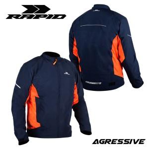 Harga jaket motor rapid agressive riding style reflektif printing   navy orange s | HARGALOKA.COM